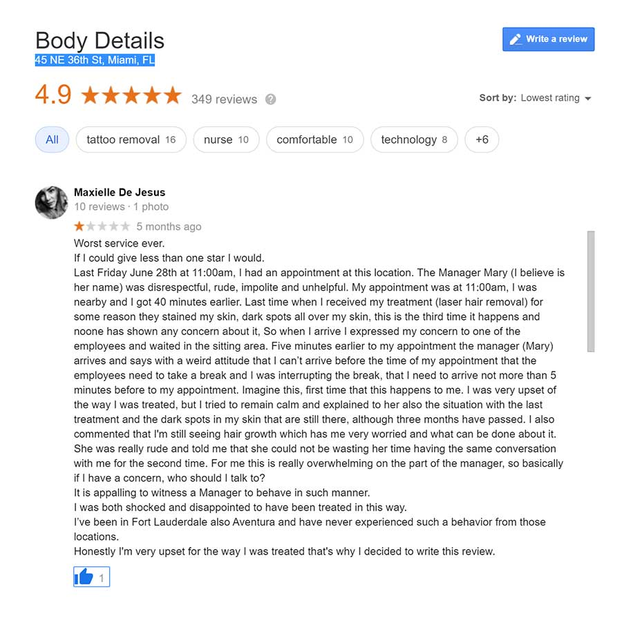 body details laser hair removal miami review